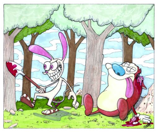 Ren and Stimpy Cain and Abel